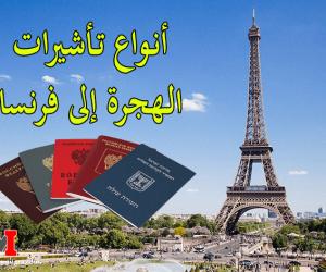أنواع تأشيرات الهجرة إلى فرنسا بالتفصيل و الوثائق الخاصة بكل نوع